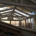 Large timber Accoya Roof Lantern pitched roof