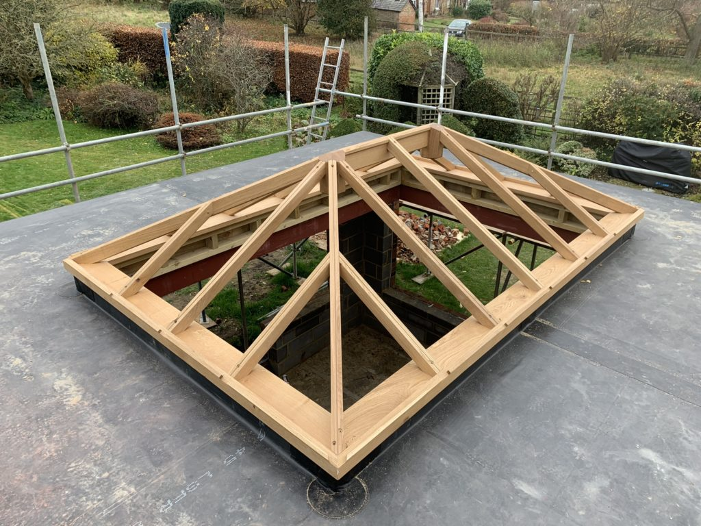Oak framed roof Lantern Timber framed skylights
