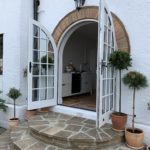 Round top Accoya french doors patio timber