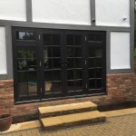 Wooden Timber French doors patio sidelights