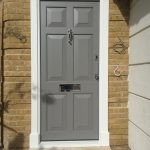 Timber accoya oak entrance grey Front door