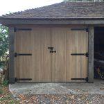 Oak timber garage doors