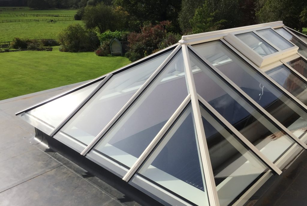 Timber Roof Lantern Flat roofs Lights