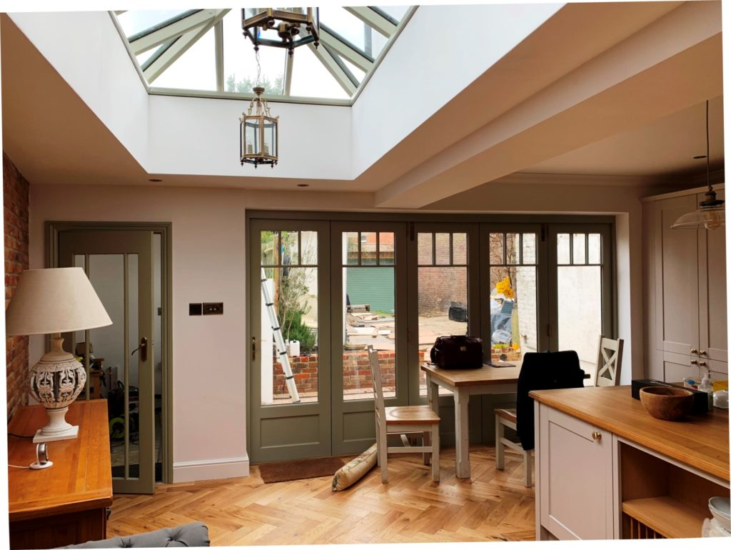 Timber Roof Lantern Accoya bifold doors Surrey
