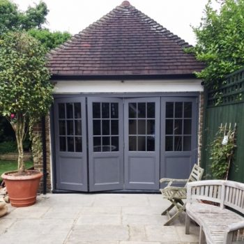 Wooden Timber bifold folding patio concertina doors