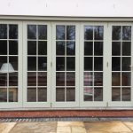 Wooden Timber bifold folding patio doors