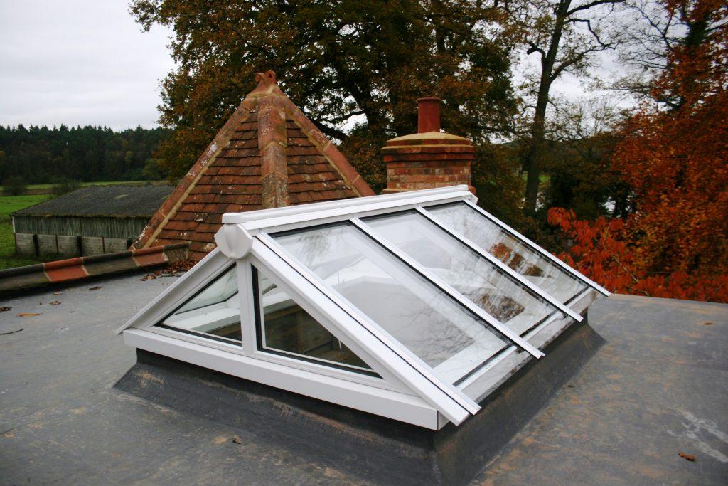 Timber gable end roof lantern
