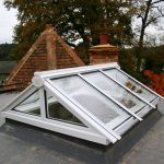 Timber gable end flat roof lantern