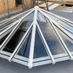 Fitting octagonal Timber Roof Lantern framed