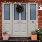 Christmas timber Front door