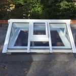 Timber gable end roof lantern vent skylight